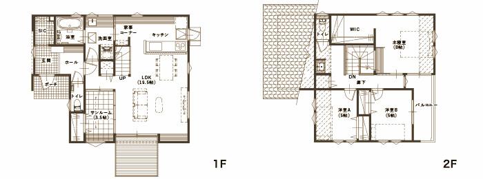 kinari 住宅展示場〈西条寺家〉 間取り